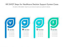 HR SWOT Steps For Healthcare Decision Support System Cases Infographic Template