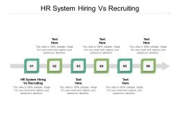 HR System Hiring Vs Recruiting Ppt Powerpoint Presentation Summary Background Images Cpb