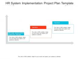 HR System Implementation Project Plan Template Ppt Powerpoint Presentation Icon Guide Cpb