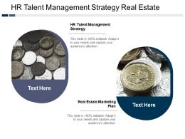 Hr Talent Management Strategy Real Estate Marketing Plan Cpb