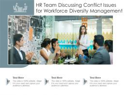 HR Team Discussing Conflict Issues For Workforce Diversity Management