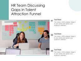 HR Team Discussing Gaps In Talent Attraction Funnel