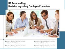 HR Team Making Decision Regarding Employee Promotion