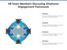 HR Team Members Discussing Employee Engagement Framework
