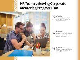 HR Team Reviewing Corporate Mentoring Program Plan
