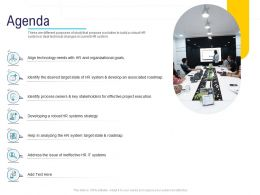 HR Technology Landscape Agenda Ppt Powerpoint Presentation Ideas Example