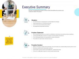 HR Technology Landscape Executive Summary Ppt Powerpoint Presentation Inspiration Display