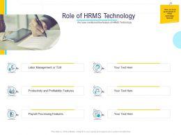 HR Technology Landscape Role Of HRMS Technology Ppt Powerpoint Presentation Inspiration