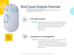 HR Technology Landscape Root Cause Analysis Overview Ppt Powerpoint Presentation Layout