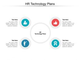 HR Technology Plans Ppt Powerpoint Presentation Pictures Brochure Cpb