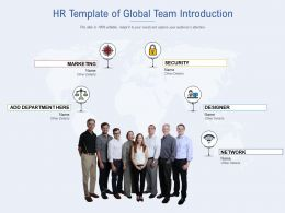 HR Template Of Global Team Introduction