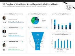 HR Template Of Monthly And Annual Report With Workforce Metrics