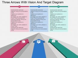 hr_three_arrows_with_vision_and_target_diagram_flat_powerpoint_design_Slide01