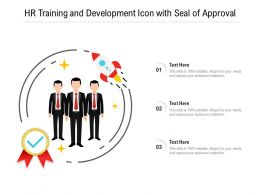 HR Training And Development Icon With Seal Of Approval