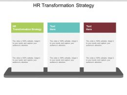 HR Transformation Strategy Ppt Powerpoint Presentation File Display Cpb