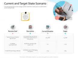 HRIS Technology Current And Target State Scenario Ppt Professional Graphic Images