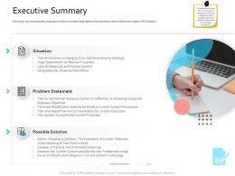 HRIS Technology Executive Summary Ppt Powerpoint Presentation Portfolio Template