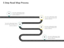 HRS Technology 5 Step Road Map Process Ppt Powerpoint Presentation Show Model