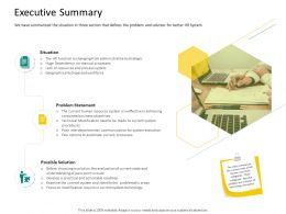 HRS Technology Executive Summary Ppt Powerpoint Presentation Outline Portfolio