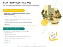 HRS Technology HCM Technology Focus Area Ppt Template Influencers
