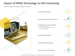 HRS Technology Impact Of HRMS Technology On Hr Functioning Ppt File Graphics