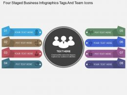 hs Four Staged Business Infographics Tags And Team Icons Flat Powerpoint Design