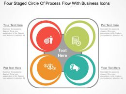 Hs Four Staged Circle Of Process Flow With Business Icons Flat Powerpoint Design