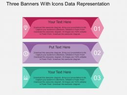 Hs Three Banners With Icons Data Representation Flat Powerpoint Design
