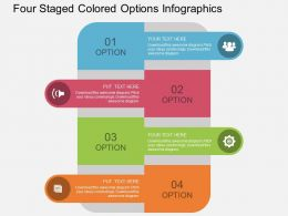 Ht Four Staged Colored Options Infographics Flat Powerpoint Design