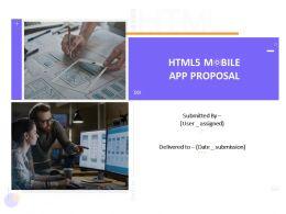 HTML5 Mobile App Proposal Template Powerpoint Presentation Slides