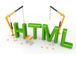 Html Text With Crane In Background Stock Photo