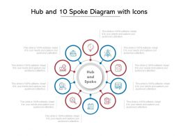 Hub And 10 Spoke Diagram With Icons