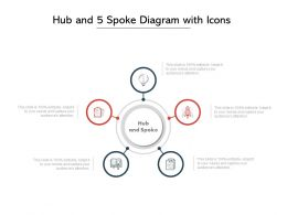 Hub And 5 Spoke Diagram With Icons