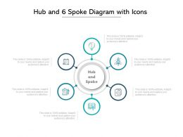 Hub And 6 Spoke Diagram With Icons