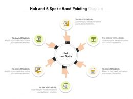 Hub And 6 Spoke Hand Pointing Diagram