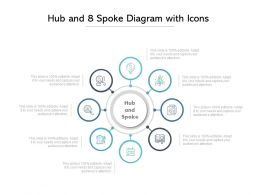 Hub And 8 Spoke Diagram With Icons