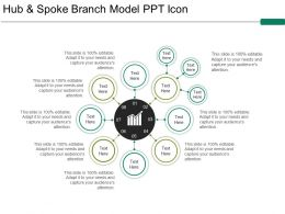 Hub And Spoke Branch Model Ppt Icon