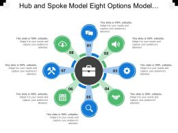 Hub And Spoke Model Eight Options Model Text Holders Icons