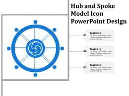Hub And Spoke Model Icon Powerpoint Design