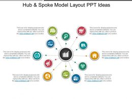 Hub And Spoke Model Layout Ppt Ideas