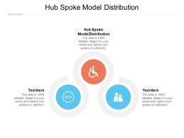 Hub Spoke Model Distribution Ppt Powerpoint Presentation Outline Aids Cpb