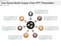 Hub Spoke Model Supply Chain Ppt Presentation
