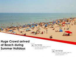 Huge Crowd Arrived At Beach During Summer Holidays