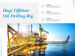 Huge Offshore Oil Drilling Rig