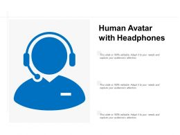 Human Avatar With Headphones