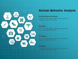 Human Behavior Analysis Ppt Powerpoint Presentation Icon Graphics Template