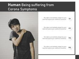 Human Being Suffering From Corona Symptoms