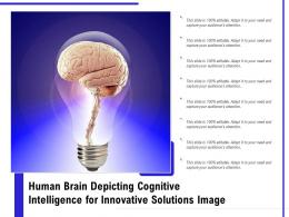 Human Brain Depicting Cognitive Intelligence For Innovative Solutions Image