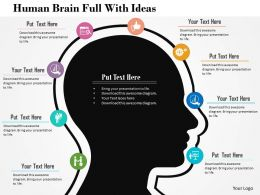 Human Brain Full With Ideas Flat Powerpoint Design