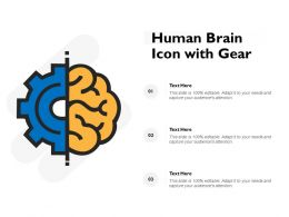 Human Brain Icon With Gear